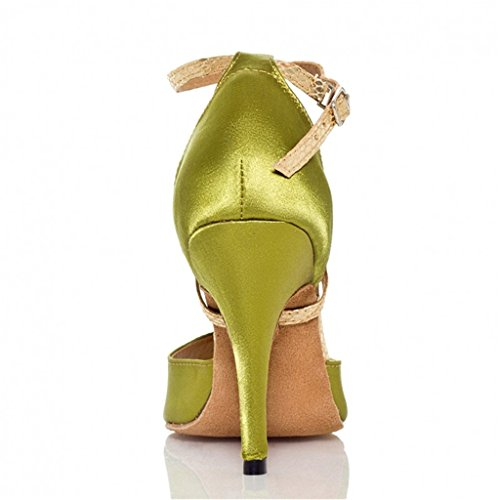 US 7B Monie Ballroom Salsa Women's Tango Shoes Modern Green Dance Professional 7qHw7Fa