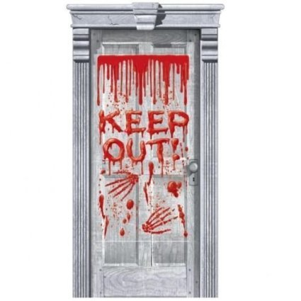 (Bloody Door Cover Keep Out Halloween)