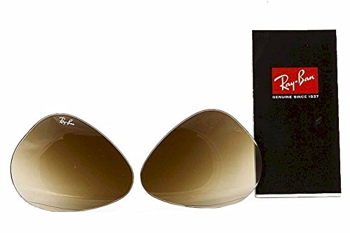 Brown Grad Lens - Ray Ban RB3025 RB/3025 RayBan Sunglasses Replacement Lenses Grad Brown Size-55