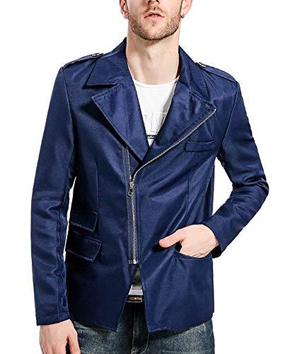 Tailles Marine Partie Veste Zipper Court Synthétique Loisirs Pour Costume En Confortable Blazer Biker Hommes Cuir Vêtements wqfXnxZT