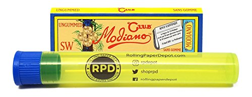 Wide Ungummed Rolling Papers - 1 Pack with Rolling Paper Depot Doob Tube ()