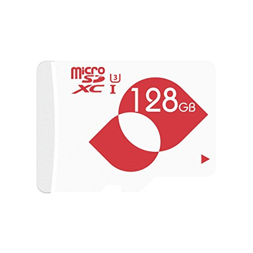 MENGMI Micro SD Card 128GB Memory Card 4K microSDXC SD Card 128 GB U3 with SD Adapter for Surveillance Camera Wyze, YI, Wansview, TENVIS Video/Nintendo Gaming(128GB U3)