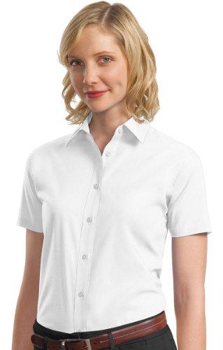 Autoridad Portuaria Mujer Valor Camisa de popelín blanco