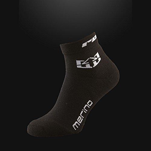 Royal Racing Merino Short Socks, Black, Small/Medium