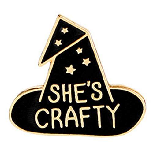 - Enamel Pin Cute Badges Brooch Wizard Hat