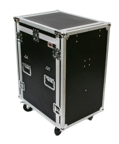 OSP Cases | ATA Road Case | 20-Space Amplifier Rack with 12-Space Mixer Slant | Standing Lid Table | MC12U-20SL ()