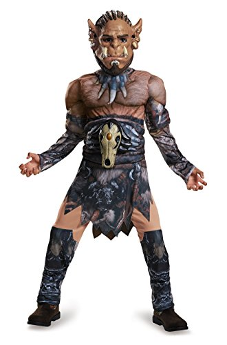 Durotan Classic Muscle Warcraft Legendary Costume, Large/10-12 (Orc Halloween Mask)