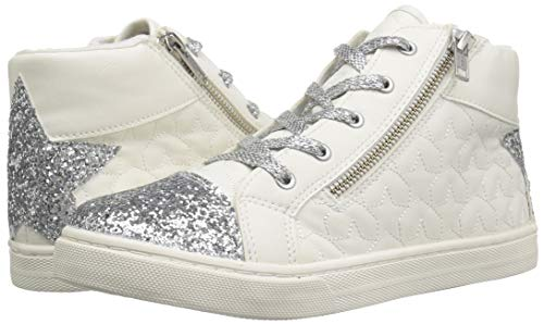 The Children's Place Girls' High Top Sneaker, White, TDDLR 7 Child US Toddler by The Children's Place (Image #6)