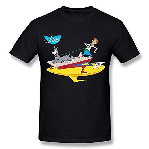 Kazzar Men's The Jetsons Astro Treadmill Dog Walk T Shirt -