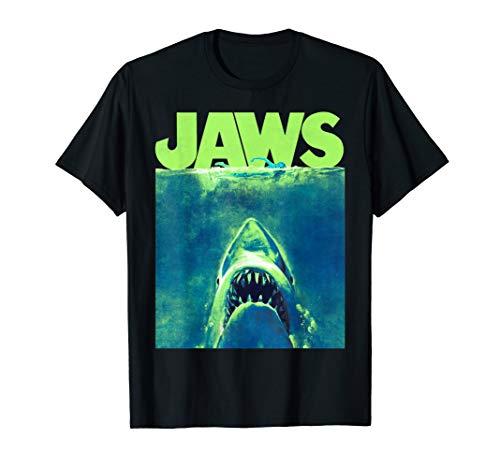 Jaws Surfacing Neon Poster Logo T-Shirt