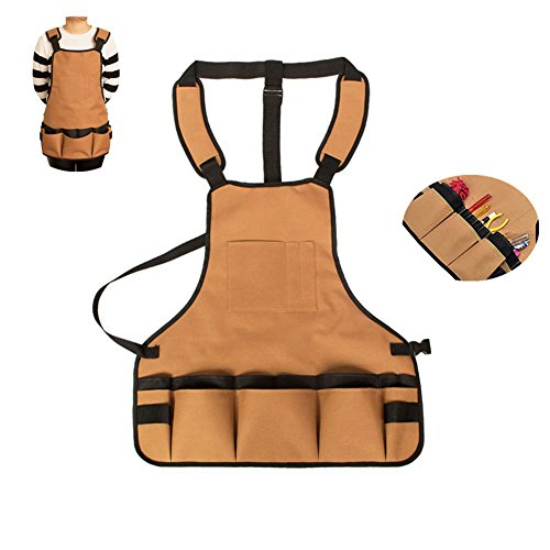 Tool Aprons With Pockets for Men And Women, Oxford Waterproof for Carpentry, Gardening and Lawn Care, Handicrafts, Cleaning