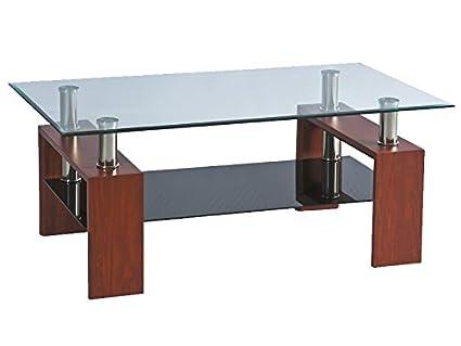 Jadella tavolo in vetro lisa cherry tavolino da salotto in legno