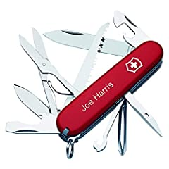 Personalize the bestselling Fieldmaster Swiss Army Knife with custom engraving. Ideal for everyday adventures or odd jobs in the garden, the versatile 3.6 inch Fieldmaster pocket knife works just as well outdoors as it does on indoor projects...