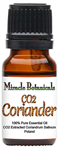 Miracle Botanicals CO2 Extracted Coriander Essential Oil - 100% Pure Coriandrum Sativum - Therapeutic Grade - 10ml