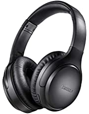 Active Noise Cancelling Headphones, Boltune Bluetooth 5.0 Over Ear Wireless Headsets [2019 upgraded] with Mic Deep Bass, Comfortable Protein Earpads 30 Hours Playtime for Travel Work TV PC Cellphone
