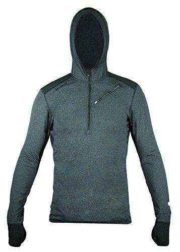 Hot Chillys Men's F8 Merino 8K Hooded Base Layer Top, X-L...