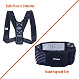 Posture Corrector for Men & Women, MESUNKA Adjustable Posture Corrector, Self-Heating Magnetic Therapy Support Waist Support Belt, Posture Support, Muscle Pain Reliever, Back Pain Reliever - Set
