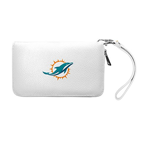 NFL Miami Dolphins Zip Organizer Pebble Wallet
