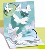 Get Well Greeting Card - Floating Butterflies Pop-Up