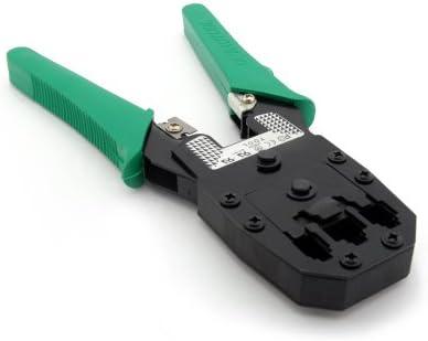 Incutex Crimpzange für Netzwerkstecker RJ45/11, 8P8C, 6P6C, 4P4C Kabelschuhzange Presszange für Kabelschuhe Crimpwerkzeug Handcrimpzange