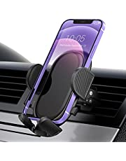 Car Phone Holder, Universal Air Vent Car Phone Mount with Stable Clip and Dual Release Button Cell Phone Mount Cradle Compatible with iPhone 13 12 11 Pro Max XS XR, Galaxy Note 20 S20 S10 and More