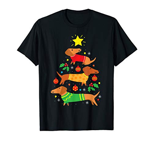Funny Dachshund Christmas Tree Shirt Ornament Decor Gift