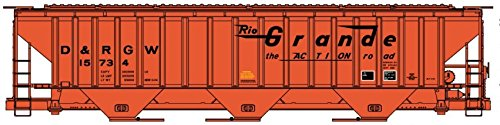 Accurail 6504 HO KIT PS-4750 3-Bay Covered Hopper, (Rgw Hopper)