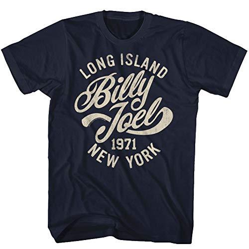 (Billy Joel Singer-Songwriter 1971 Long Island NY Vintage Navy Adult T-Shirt Tee)