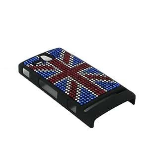 Univers GSM AXES33 - Funda para Sony Xperia U, diseño de bandera del Reino Unido con brillantes