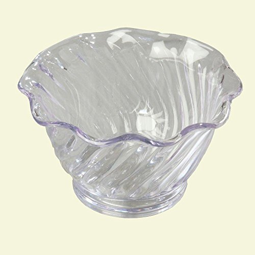 Tulips Berry - Carlisle 453007 SAN Plastic Tulip 5 oz. and Berry Dish in Clear (Case of 24)