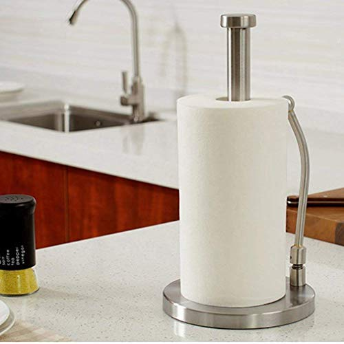 Paper Towel Holder,Kitchen Paper Towel Dispenser Heavy Duty Stainless Steel Countertop Napkin Holders Roll Holder Up Makeup Remover Standing Tabletop Tissue Holder by IUMÉ (Image #6)