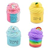 4 Pack Cloudy Slime Scented Unicorn Slime Toy