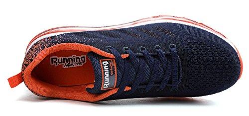 Corsa Casual Unisex Sneakers Interior Fitness Sportive tqgold da all'Aperto Scarpe Uomo Donna Running Scuro Basse Ginnastica Arancio Blu wYqCxfROq