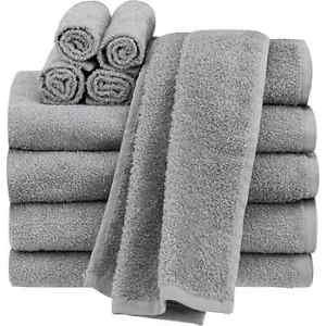 Tex Home 100% Grey Cotton Hand Towel Set of 2