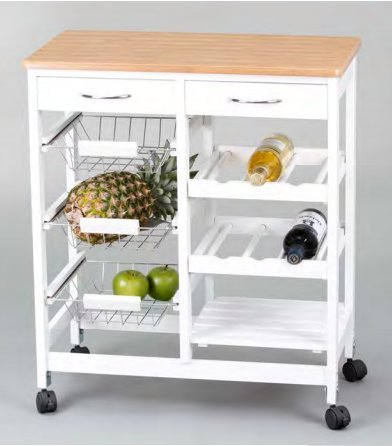 Kit Closet 7040028001 - Küchenwagen komplett, Holz