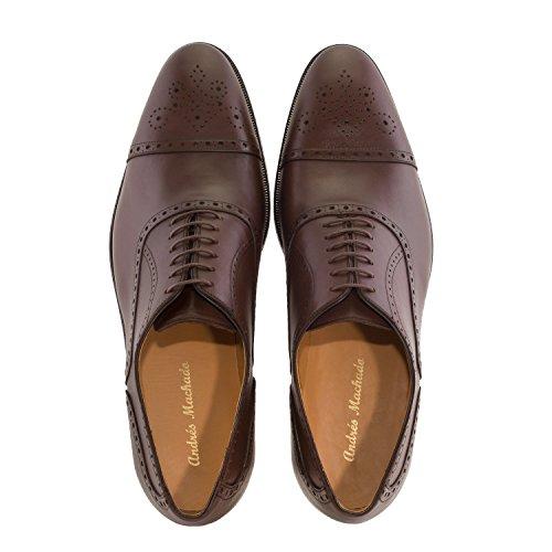 Andres Machado.5969.oxford Sko I Leather.made I Spain.mens Store Størrelser: Oss M13 Til M16 Brunt Tre Skinn