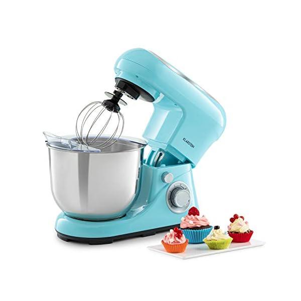 Klarstein Bella Pico 2G - Robot da Cucina, Mixer, Impastatrice, 1200 W / 1,6 PS, 6 Livelli, Sistema di Miscelazione… 1