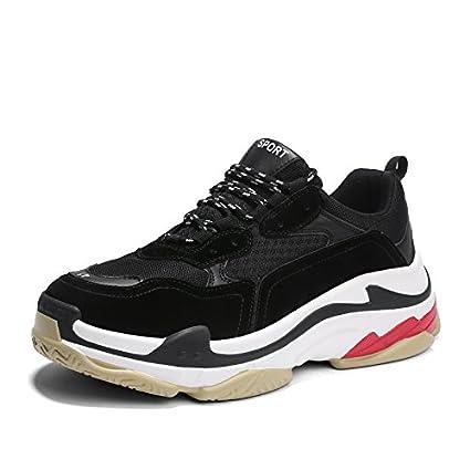 GUNAINDMX Sports Shoes/Shoes/Thick Bottom All-Match/Shoes/Spring/White,Thirty-Seven,1113 Black