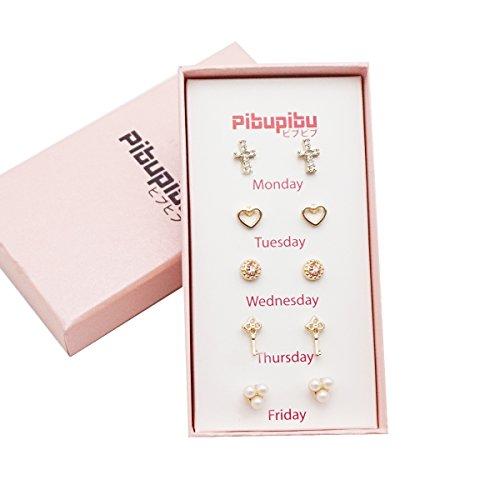 Pibupibu Novelty Crystal Earrings Hypoallergenic product image