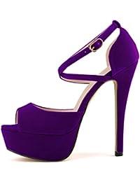 Amazoncom Purple Pumps Shoes Clothing Shoes Jewelry