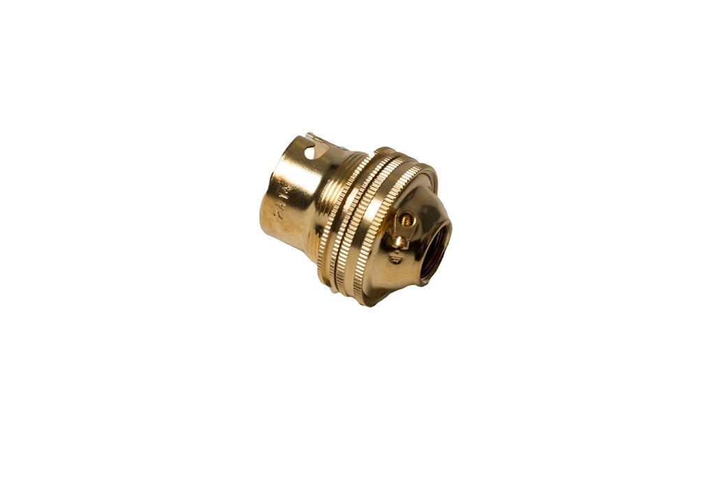 Bulk Hardware BH03034 Unswitched Brass Lamp Holder, 1/2 inch