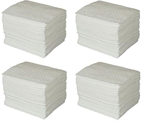 SPC BPO100 BASIC Oil Only Heavy Weight Pad, White, 15'' L x 17'' W (100 Per Bale) (4 Cases) by Brady SPC