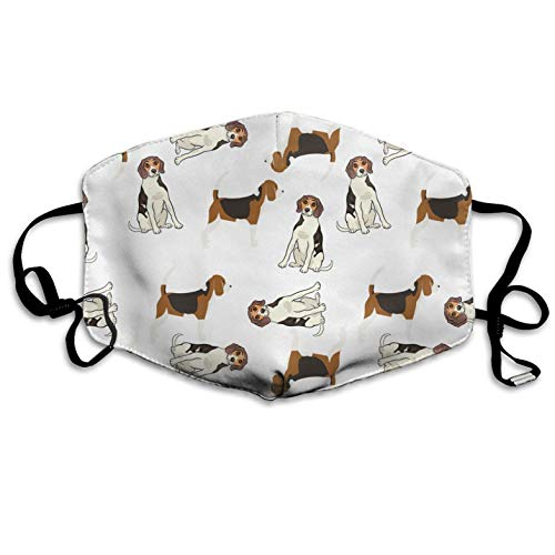 Cute Beagles Custom Mouth Mask Anti-Dust Face Mask Anti-Dust Flu Pollenm Germs Bacteria Virus Smog Face Nose Mask Reusable