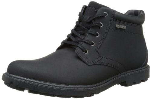Rockport Hombres Rugged Bucks - Bota Impermeable Negra