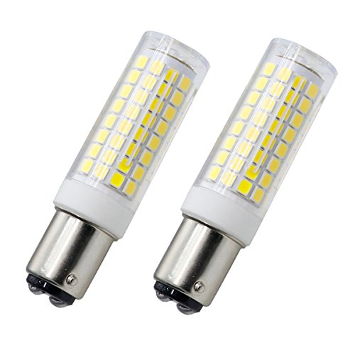 ba15d bulb, Dimmable All-New 102×2835SMD led ba15d Double Contact Bayonet Base bulb, 120V 7W White 75W Halogen Replacement (2 ()