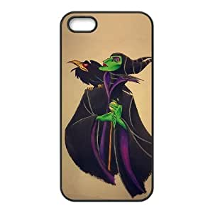 IPhone 5,5S Cell Phone Case for Classic Theme Disney Maleficent Cartoon pattern design GDSNMLT12264