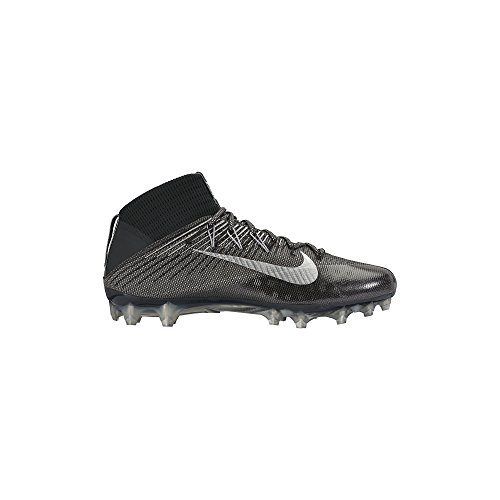 NIKE Men's Vapor Untouchable 2 Football Cleat Black/Anthracite/Metallic Silver Size 10 M US