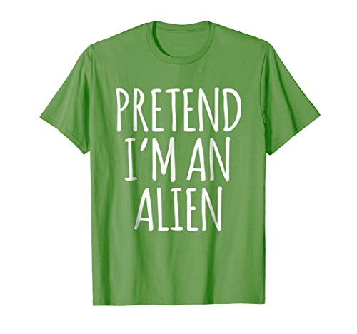 Funny Lazy Halloween Costume Shirt - Alien Space Creature T ()