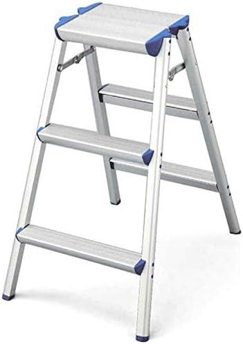 NOOYC Escalera Plegable, 3 Pasos Escalera Alta Multifuncional Antideslizantes Calidad Diseño Escalera de Mano Fuerte Estabilidad Aluminio Escalera Escalera para Home Office Loft,3 Steps: Amazon.es: Hogar