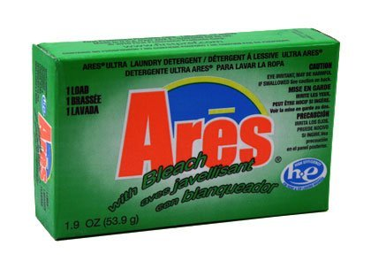 Ares with Bleach Laundry Powder HE 1.9 oz - Coin Vend by albachem
